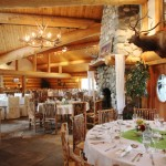 The main lodge was so warm it was the perfect place for the reception