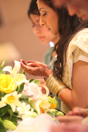 I love how peaceful Ayesha looks here during the ceremony