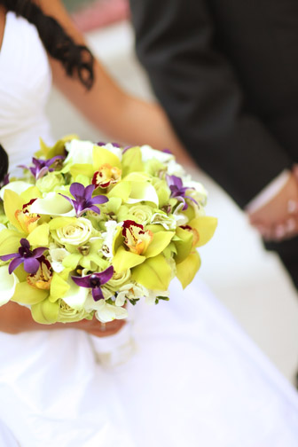 The heaviest and one of the prettiest bouquets I've ever held.