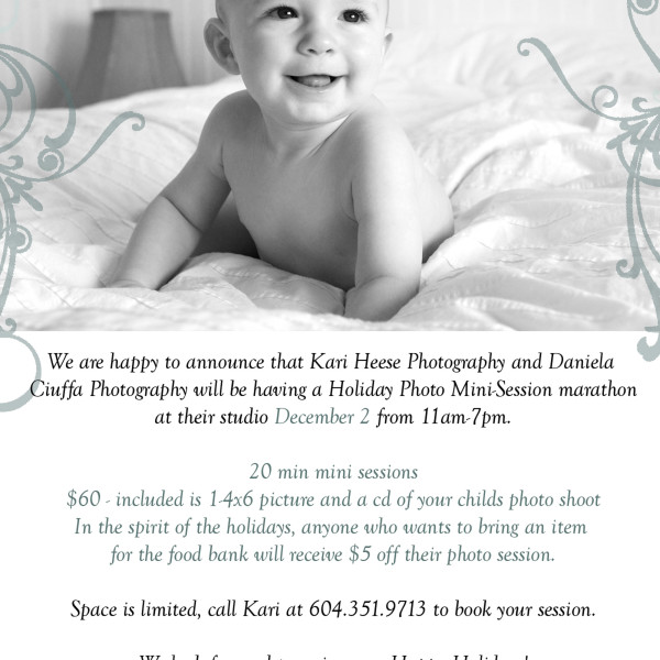 Vancouver Portrait Photography| 2009 Holiday Promo