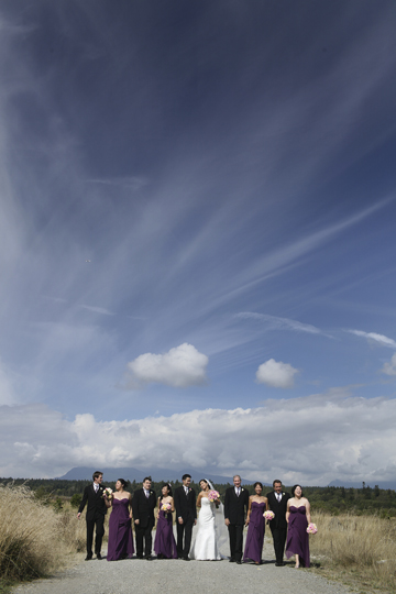 I love this wide shot of the wedding party taken by Mike.